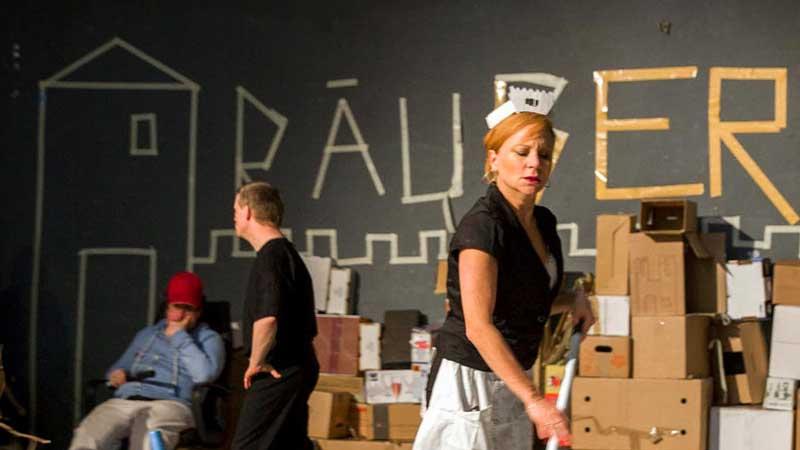 Aus der Aufführung vom Stück: Die Räuber