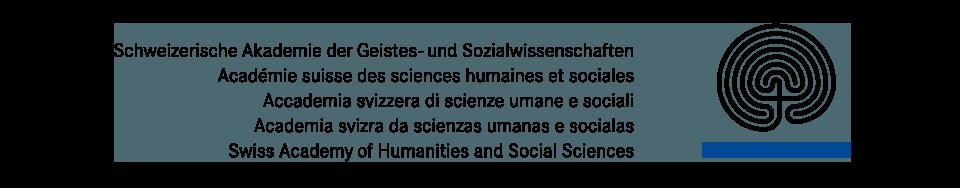 Das Logo der Schweizerische Akademie der Geistes- und Sozialwissenschaften