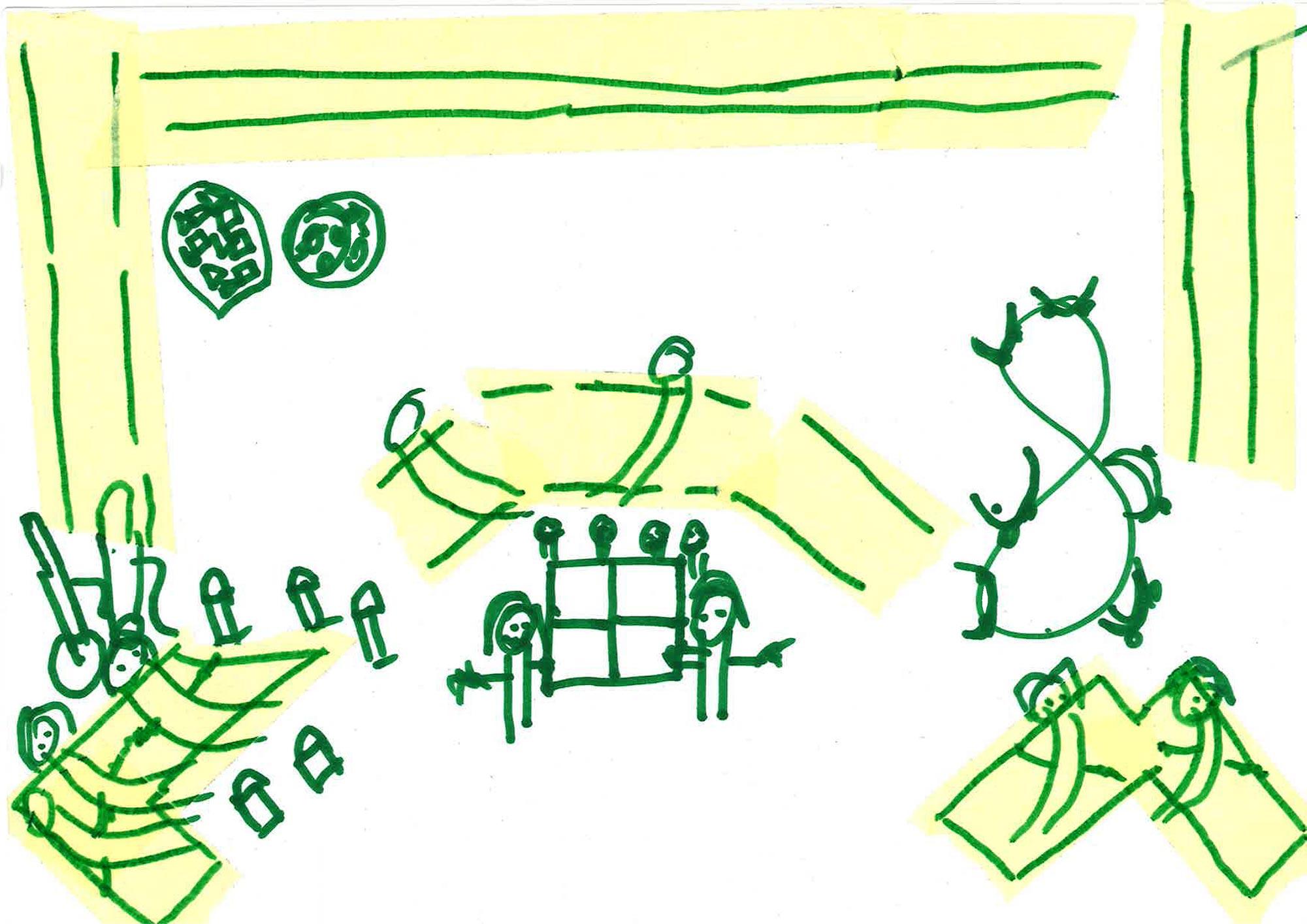 Eine Illustration zu den Proben von Freie Republik Hora