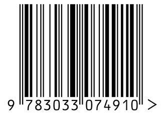 Strichcode der ISBN-Nummer